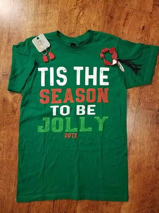 """Tis The Season To Be Jolly""  Unisex Graphic Tee"