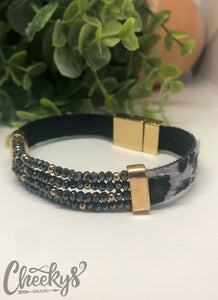 The Jasmine Magnetic Bracelet in Leopard