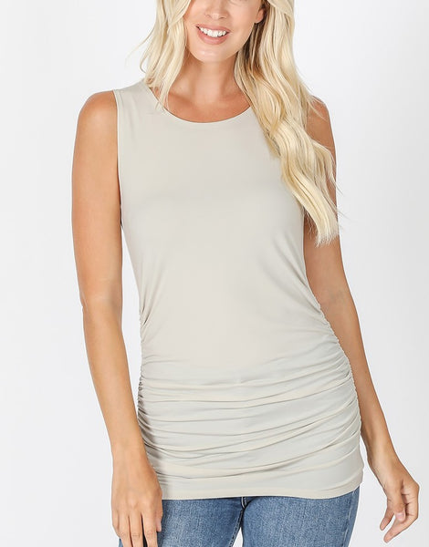 Long Ruched Tank