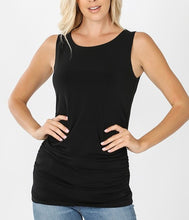 Load image into Gallery viewer, Long Ruched Tank (Available in multiple colors)
