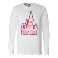 Distressed Cake Castle Long Sleeve Tee -5 color options