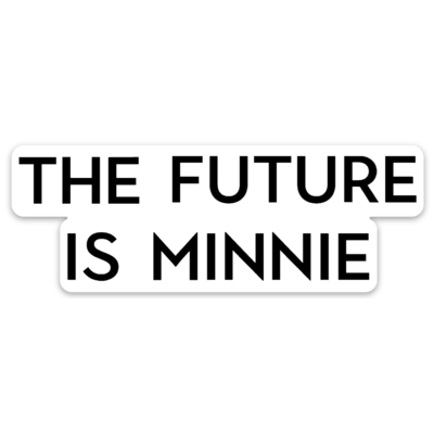 Future Is Minnie Sticker