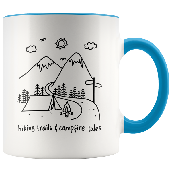 Hiking Trails & Campfire Tales Mug -7 color options