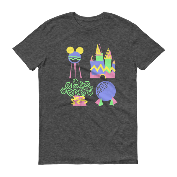90s WDW Love Tee - Heathered Grey