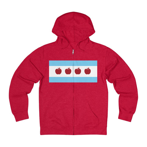Chicago Teacher Unisex French Terry Zip Hoodie