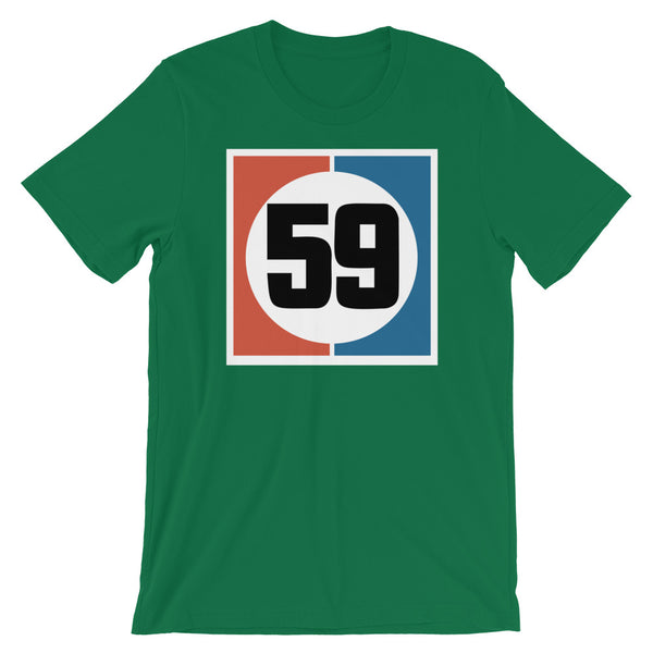 Drag Racing Number 59 Short-Sleeve Unisex T-Shirt