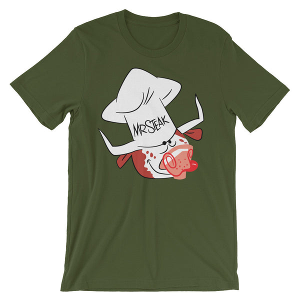 Mr. Steak Unisex short sleeve t-shirt