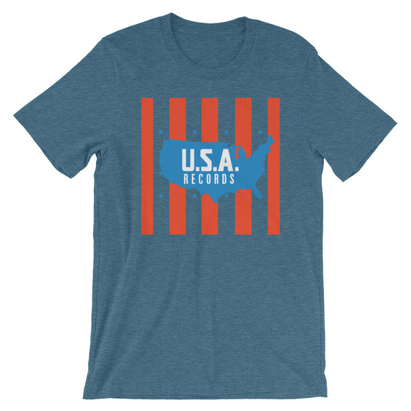 USA Records Short-Sleeve Unisex T-Shirt
