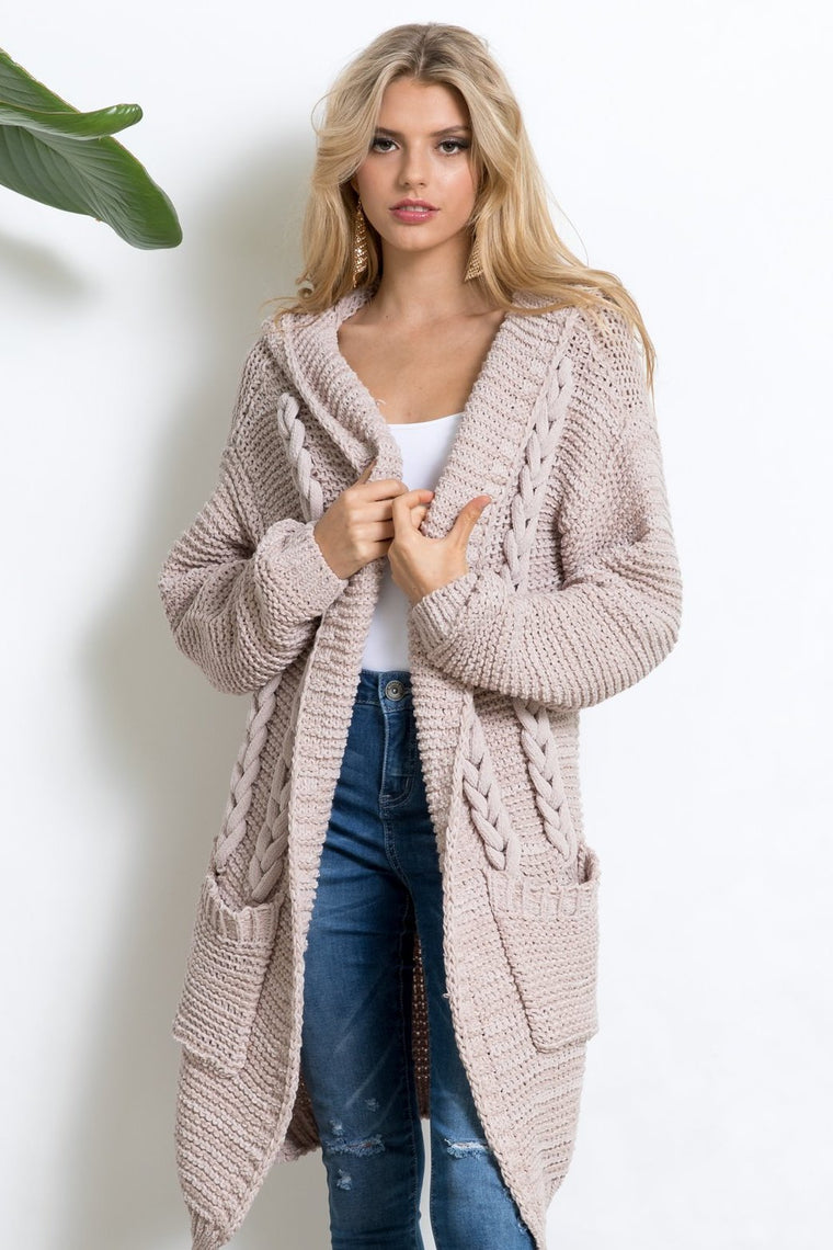 Mend My Heart Cable Cardi
