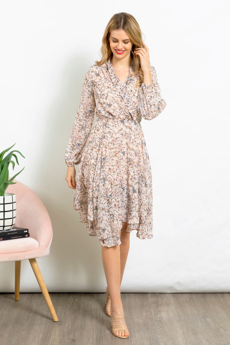 Love Story Floral Print Party Dress