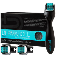 DERMAROLL BLACK by Prosper Beauty (5 Piece Microneedle Derma Roller Kit)