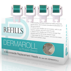 DERMAROLL REFILLS by Prosper Beauty (4 Microneedle Replacement Heads)