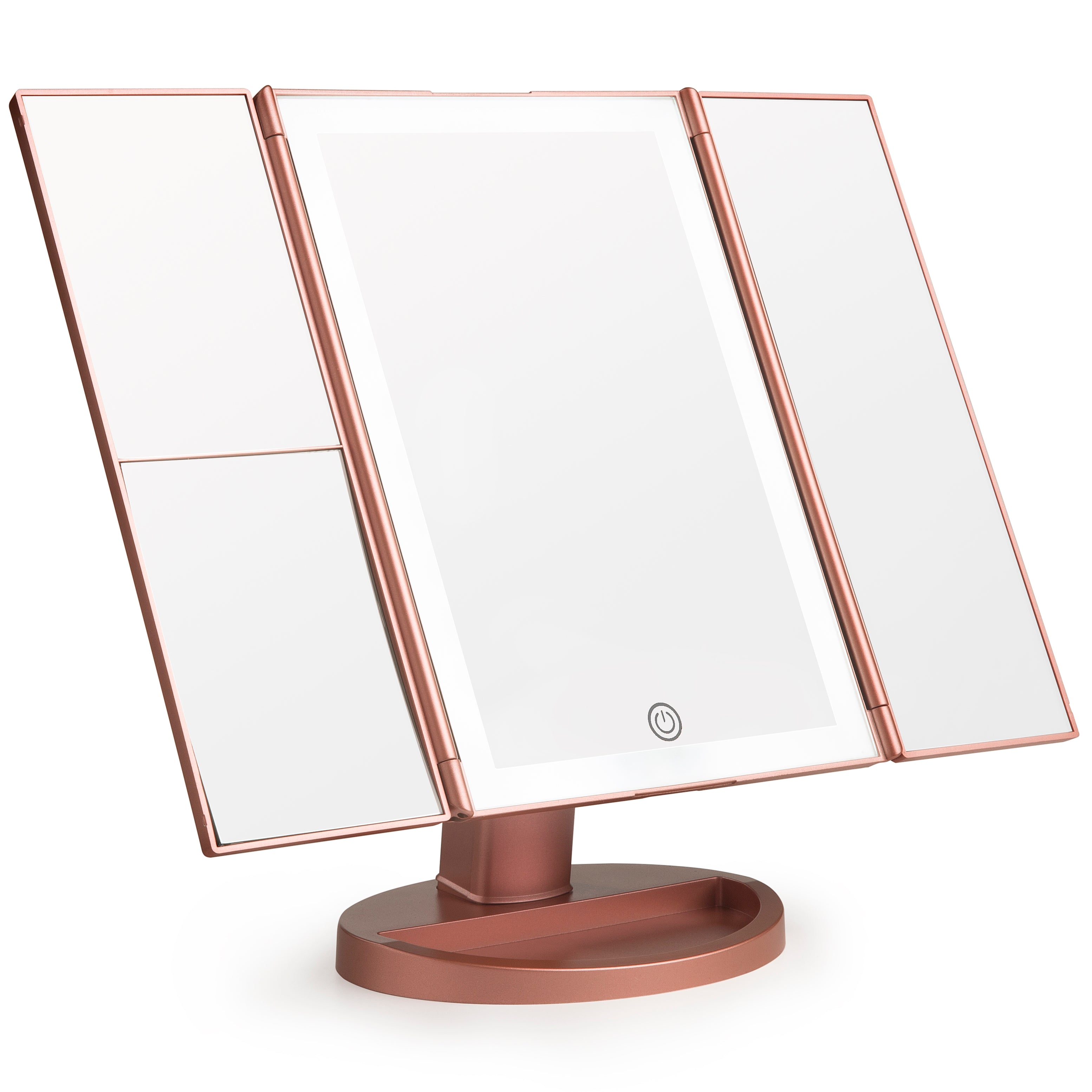 LIT by Prosper Beauty (LED Panoramic Vanity Mirror - Rose Gold)