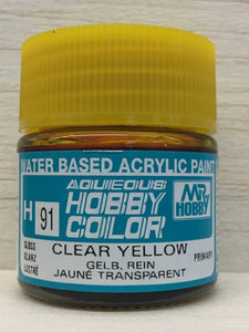 GUNZE MR HOBBY COLOR H91 GLOSS CLEAR YELLOW