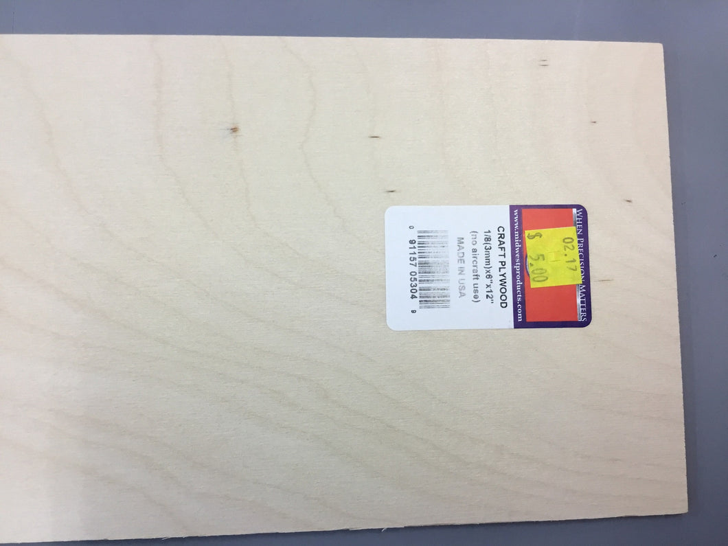 PLYWOOD CRAFT 3 X 150 X 300
