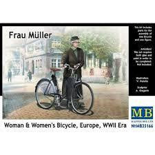 MASTERBOX 1/35 WOMAN & BICYCLE EUROPE WW2