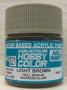 GUNZE MR HOBBY COLOR H321 SEMI GLOSS LIGHT BROWN