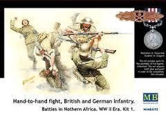 MASTERBOX 1/35 HAND TO HAND FIGHT BRITISH AND GERMAN INFANTRY