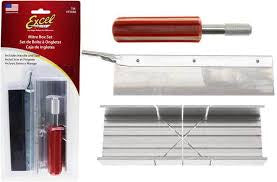EXCEL MITRE BOX SET INCL HANDLE AND SAW BLADE