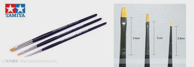TAMIYA BRUSH SET FINER 3 PIECE