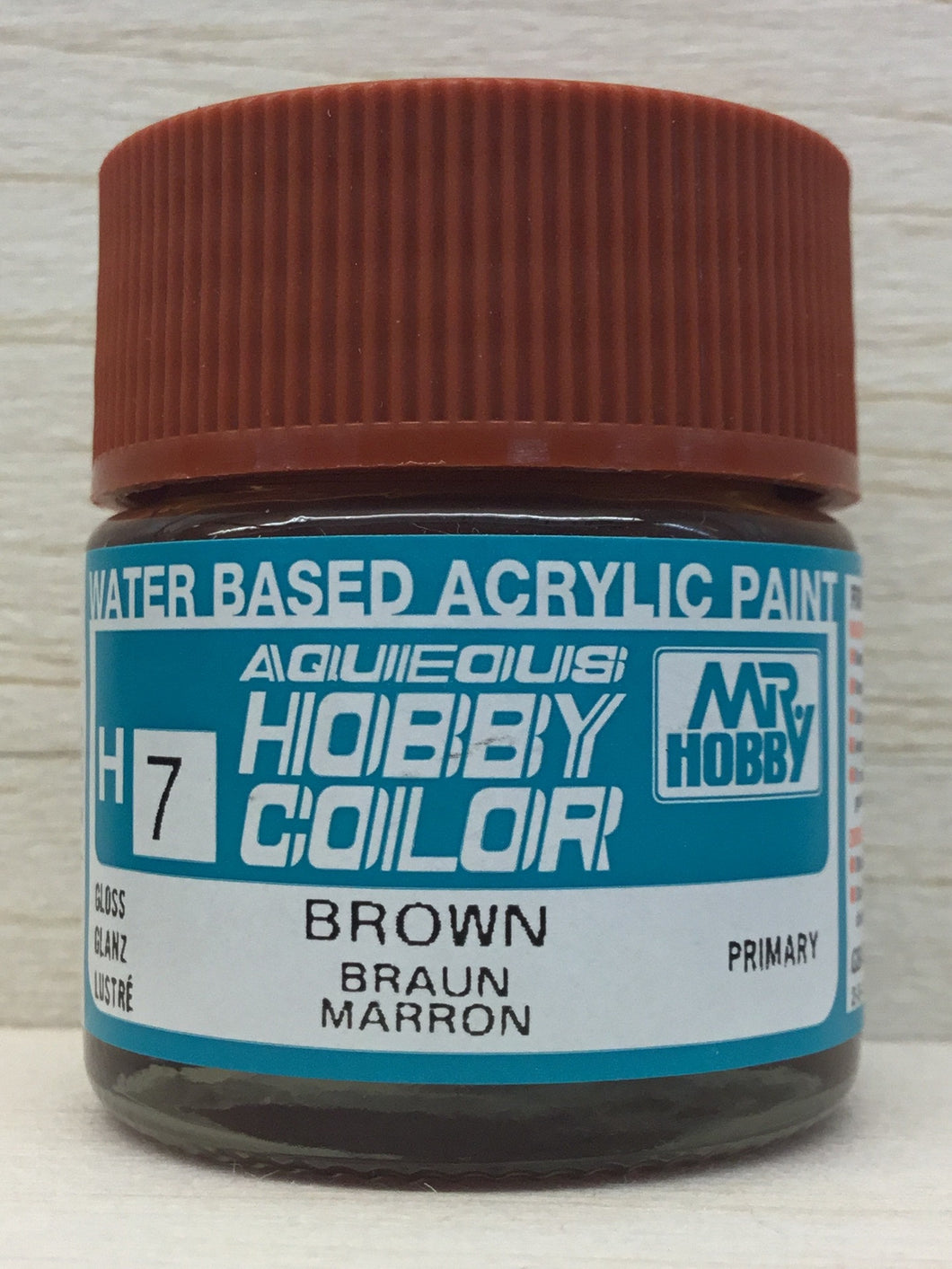 GUNZE MR HOBBY COLOR H7 GLOSS BROWN