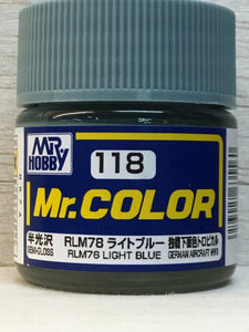 GUNZE MR COLOR C118 RLM 78 LIGHT BLUE