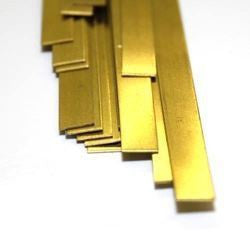 "K&S 8237 .025"" X 1"" BRASS STRIP 12"" LONG"