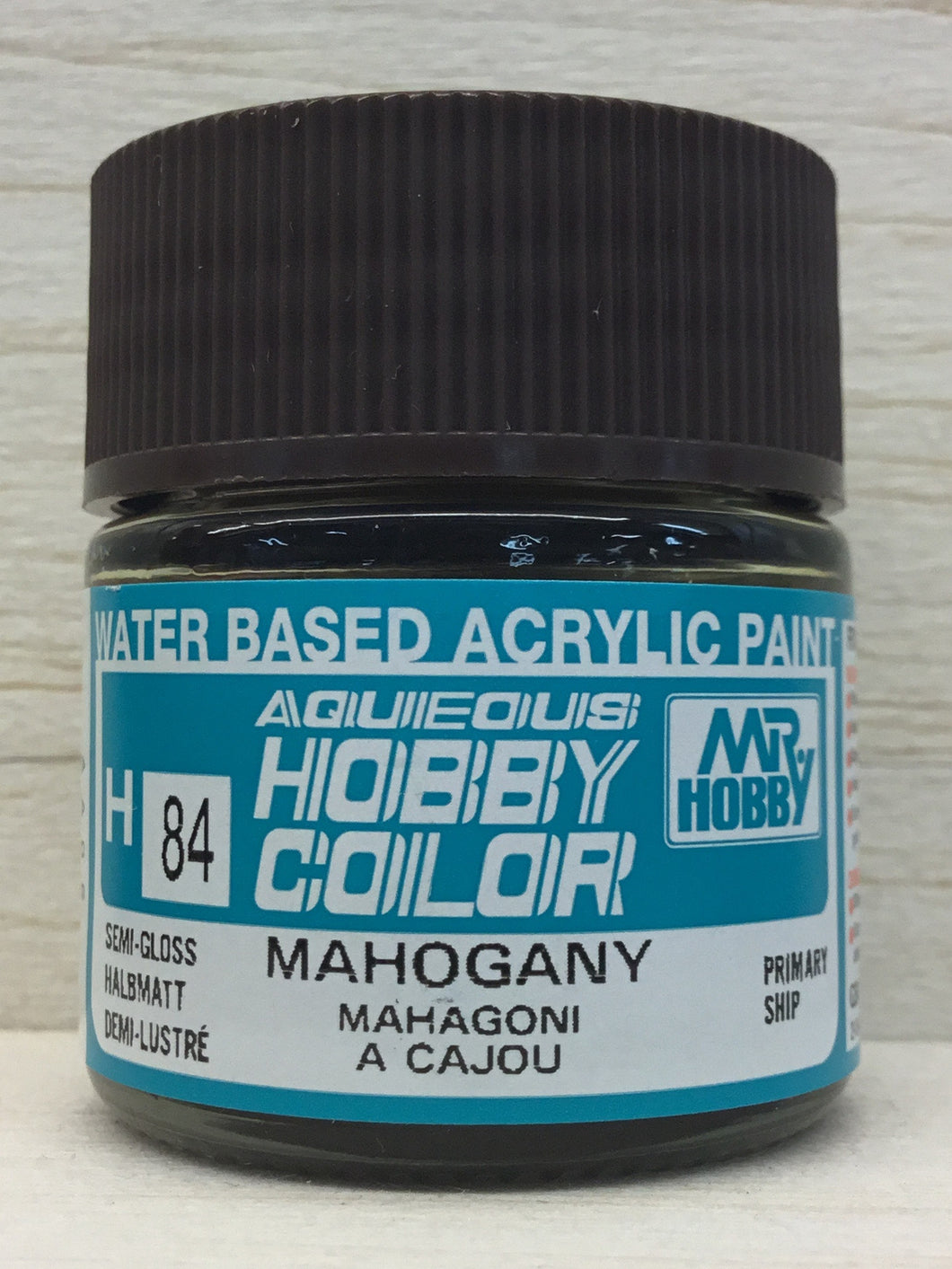 GUNZE MR HOBBY COLOR H84 SEMI GLOSS MAHOGANY