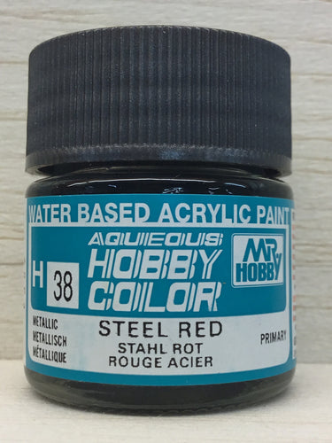 GUNZE HOBBY COLOR H38 METALLIC STEEL RED