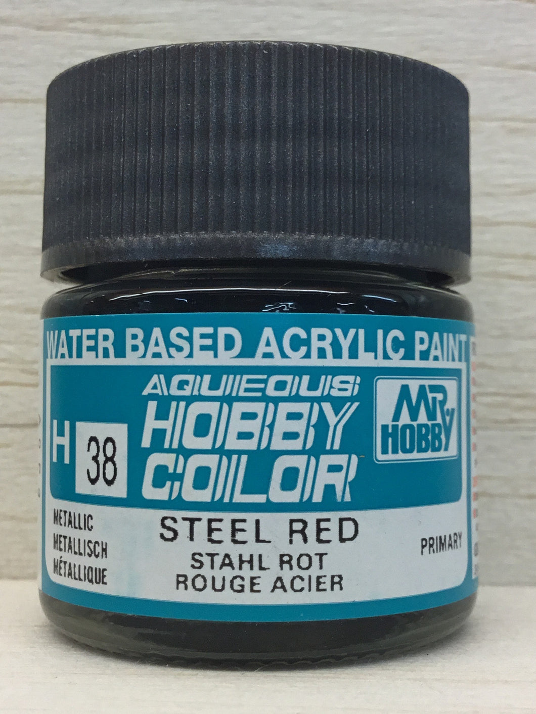 GUNZE MR HOBBY COLOR H38 METALLIC STEEL RED