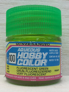 GUNZE MR HOBBY COLOR H100 GLOSS FLUORESCENT GREEN