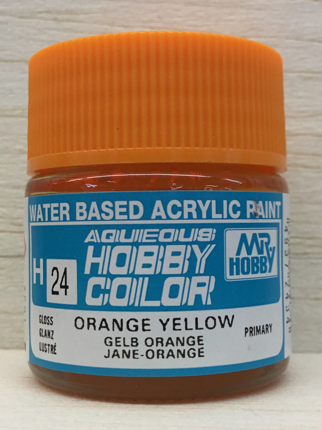 GUNZE MR HOBBY COLOR H24 GLOSS ORANGE YELLOW