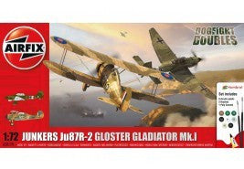 AIRFIX 1/72 DOGFIGHT DOUBLE JU87 VS GLADIATOR