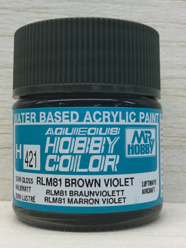 GUNZE HOBBY COLOR H421 SEMI GLOSS RLM 81 BROWN VIOLET