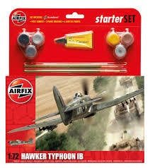 AIRFIX 1/72 HAWKER TYPHOON 1b STARTER SET (WITH PAINT & GLUE)
