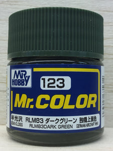 GUNZE MR COLOR C123 SEMI GLOSS RLM 83 DARK GREEN