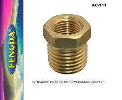BADGER ADAPTER AC-111 BADGER HOSE ON TO COMPRESSOR
