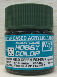 GUNZE MR HOBBY COLOR H340 SEMI GLOSS FIELD GREEN FS34097