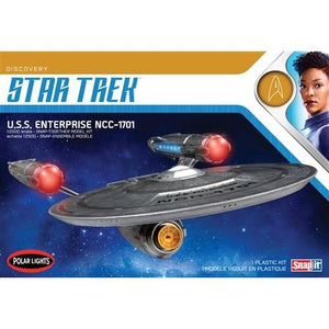 POLAR LIGHTS 1/2500 STAR TREK DISCOVERY USS ENTERPRISE NCC-1701 SNAP