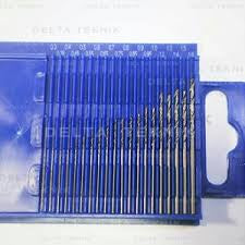 DELTA 20 PIECE METRIC DRILL SET 0.3 TO 1.6MM