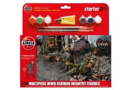 AIRFIX 1/32 MULTIPOSE GERMAN INFANTRY STARTER SET