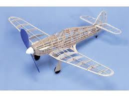 WEST WINGS HAWKER HURRICANE BALSA & TISSUE RUBBER BAND POWERED MODEL