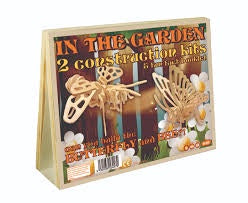 IN THE GARDEN BUTTERFLY & BEE 2 WOOD CONSTRUCTION KITS