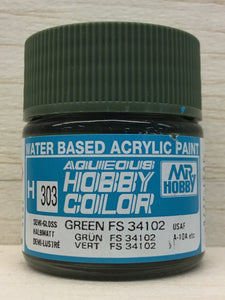 GUNZE HOBBY COLOR H303 SEMI GLOSS GREEN FS34102