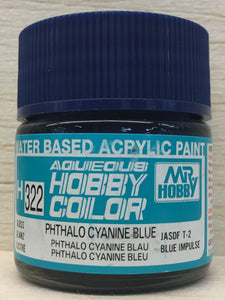 GUNZE MR HOBBY COLOR H322 GLOSS PHTHALO CYANINE BLUE