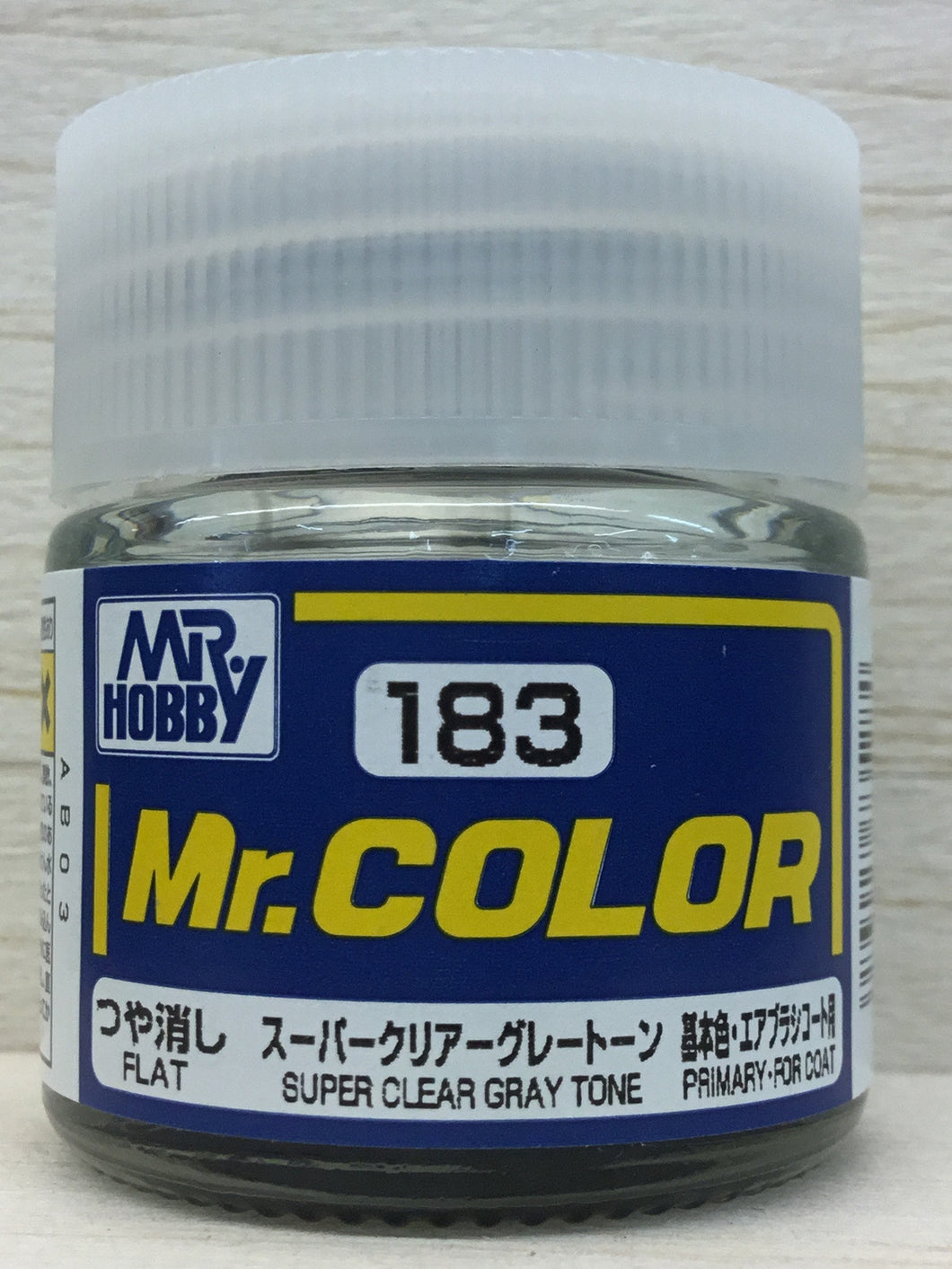 GUNZE MR COLOR C183 FLAT SUPER GRAY CLEAR TONE