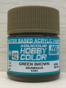 GUNZE MR HOBBY COLOR H402 FLAT GREEN BROWN