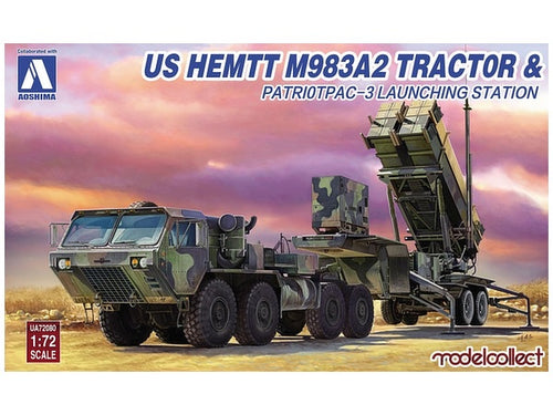 AOSHIMA 1/72 US ARMY HEMTT W/ PATRIOT