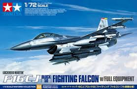 TAMIYA 1/72 F-16 CJ BLOCK 50 FIGHTING FALCON W/FULL EQUIPMENT