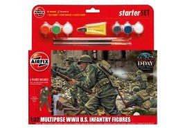 AIRFIX 1/32 MULTIPOSE WWII US INFANTRY STARTER SET